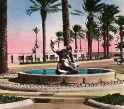 Gazelle Fountain - 1958 - Tripoli, Libya.